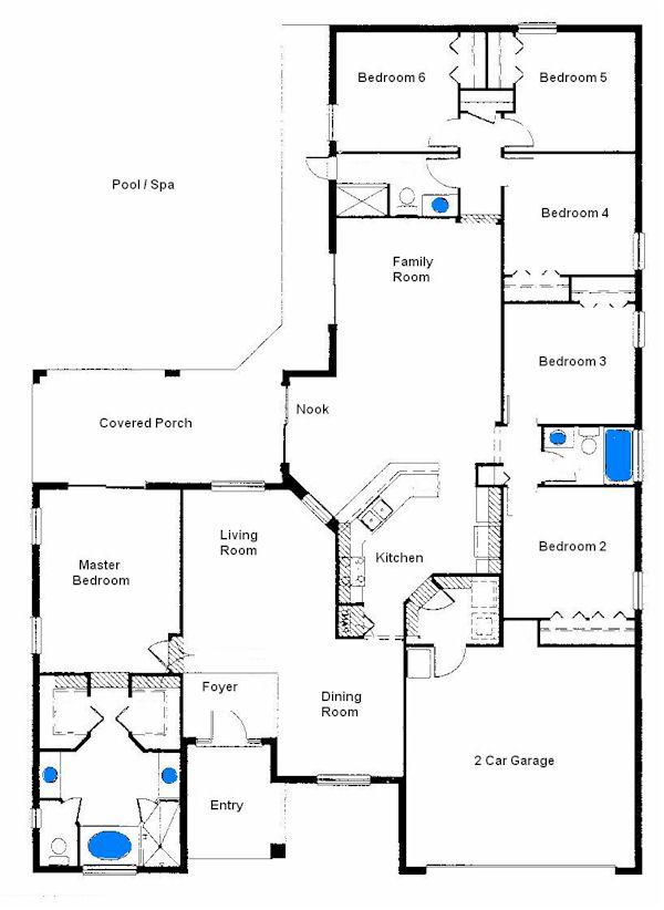 Your Florida Villa Holiday Floor Plan